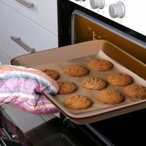 NutriChef 2-Piece Steel Large and Medium Nonstick Oven Baking Sheet Set