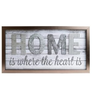 Pinnacle Home Is Where The Heard Is Wood Plank Decorative Sign