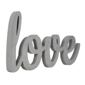 Pinnacle Love Grey Wood Decorative Sign