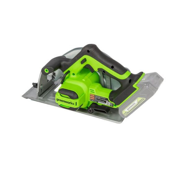 Greenworks 24-Volt Battery Cordless Brushless 7.25 in. Circular Saw Battery Not Included CR24L00