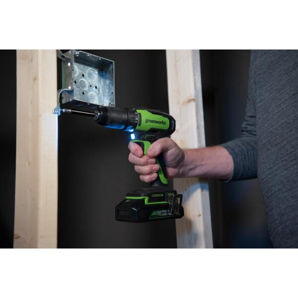 Greenworks 24-Volt Battery Cordless Brushless Hammer Drill, Battery Not Included DD24L01