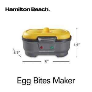 Hamilton Beach Eggbites 2-Egg Grey Egg Bite and Poached Egg Maker