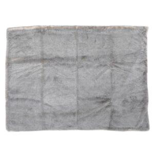 Noble House Toscana Timeless Grey Faux Fur Throw Blanket