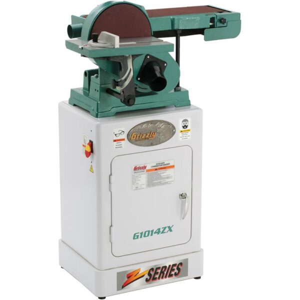 Grizzly Industrial Combination Sander with Cabinet Stand