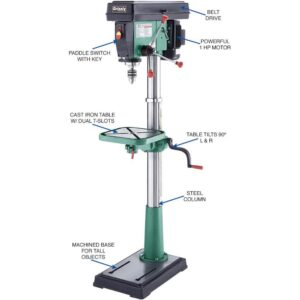 Grizzly Industrial 17 in. 12-Speed Floor Drill Press