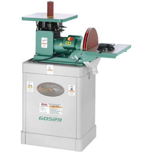 Grizzly Industrial 10-Amp 12 in. Corded Oscillating Spindle Disc Sander