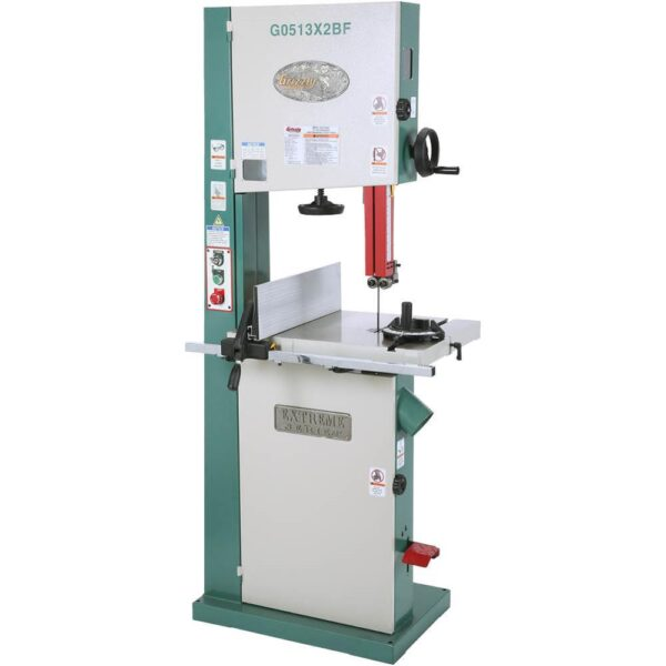 """Grizzly Industrial 17"""" 2 HP Extreme-Series Bandsaw with Cast-Iron Trunnion & Foot Brake Micro-Switch"""
