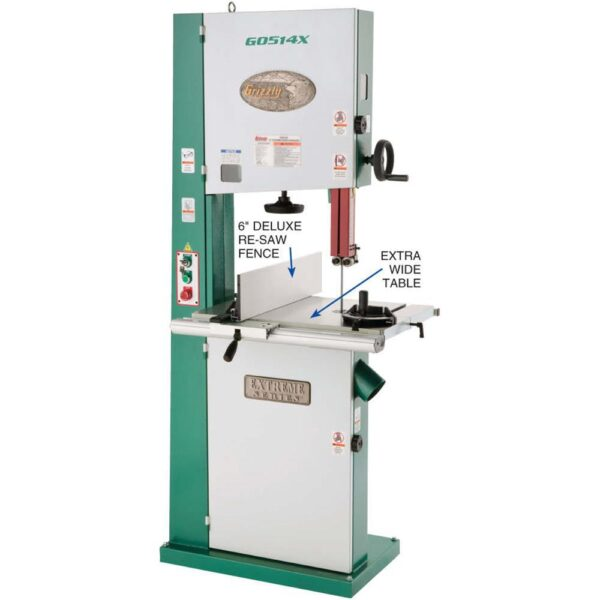 """Grizzly Industrial 19"""" 3 HP Extreme Series Bandsaw"""