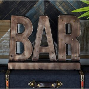 LITTON LANE Gray Bar Marquee LED Lighted Sign