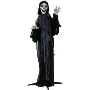 Haunted Hill Farm 5 ft. Animatronic Grim Reaper Halloween Prop