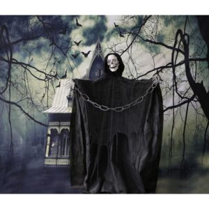 Haunted Hill Farm 5 ft. Animatronic Talking Skeleton Halloween Prop