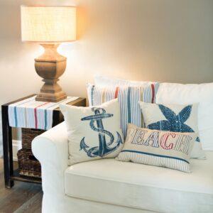 Heritage Lace Beach Living Multi Hidden Zipper 22 in. L x 22 in. W Throw Pillow