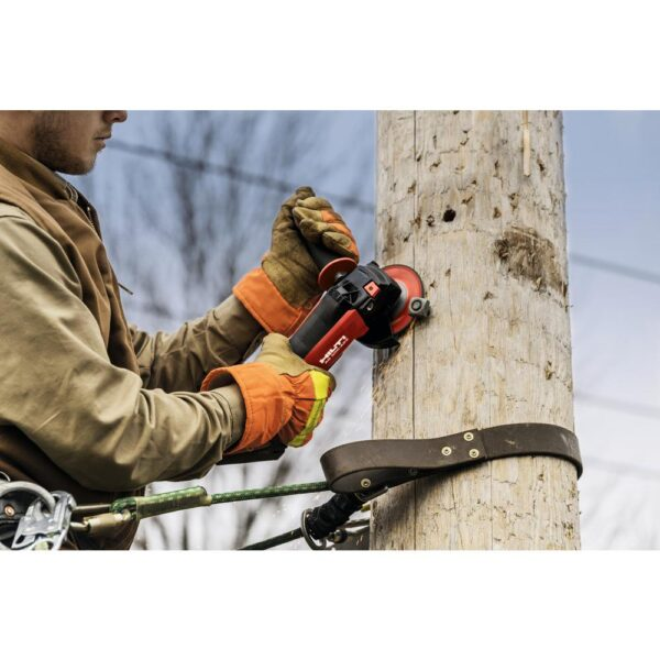 Hilti AG 500 22-Volt Cordless Brushless 5 in. Angle Grinder Kit with (2) 4.0 Lithium-Ion batteries, charger and bag