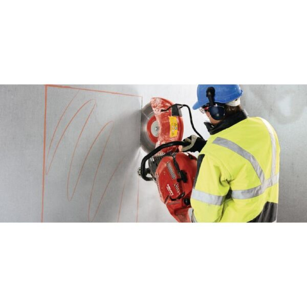 Hilti DSH 700-X 70 cc 14 in. Hand Held Gas Saw with 3 Premium 14 in. Diamond Blades