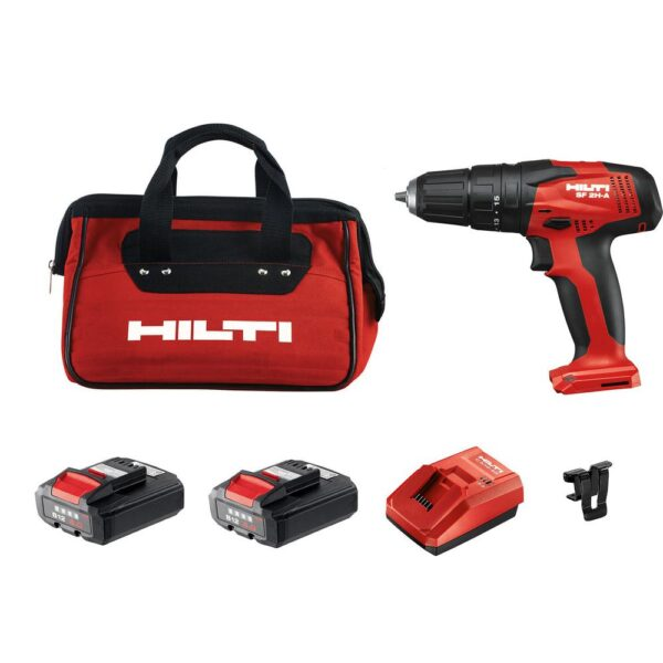 Hilti 12-Volt Lithium-Ion 3/8 in. Cordless Hammer Drill/Driver SF 2H-A with Battery, Charger and Bag