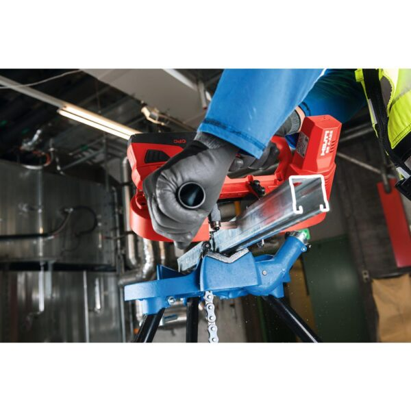 Hilti 22-Volt SB 4-A22 Compact Cordless Band Saw Kit with 3-Pack of 10 TPI / 14 TPI Band Saw Blades, Battery Pack and Tool Bag