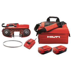 Hilti 22-Volt SB 4-A22 Cordless Band Saw Kit Includes 3-Pack of 14 TPI / 18 TPI Teeth Blades, Battery, Charger and Tool Bag