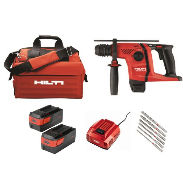 Hilti 36-Volt Lithium-Ion 1/2 in. SDS Plus Cordless Rotary Hammer TE 6-A36 Industrial Trade PKG