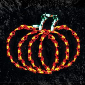 HOLIDYNAMICS HOLIDAY LIGHTING SOLUTIONS 14 in. Lighted LED Little Pumpkin