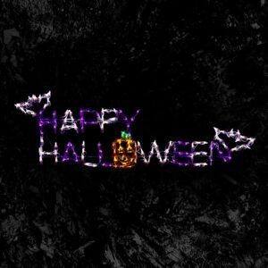 HOLIDYNAMICS HOLIDAY LIGHTING SOLUTIONS Holidynamics, Halloween Yard Decoration 57 in. LED Happy Halloween Sign
