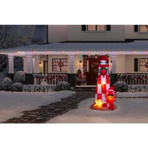 Home Accents Holiday 7.5 ft. Inflatable Lighthouse Scene