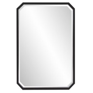 Home Decorators Collection Medium Octagonal Black Beveled Glass Classic Accent Mirror (36 in. H x 24 in. W)