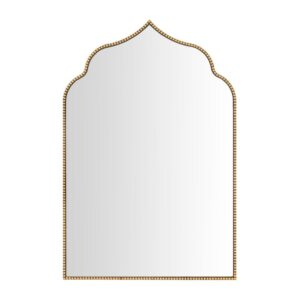 Home Decorators Collection Medium Ornate Arched Gold Antiqued Classic Accent Mirror (35 in. H x 24 in. W)