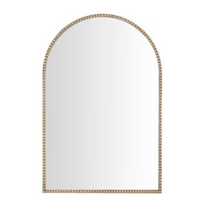 Home Decorators Collection Medium Arched Gold Antiqued Classic Accent Mirror (35 in. H x 24 in. W)