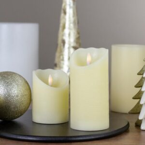 Northlight 6 in. Ivory Flameless Battery Operated Christmas Decor Candle