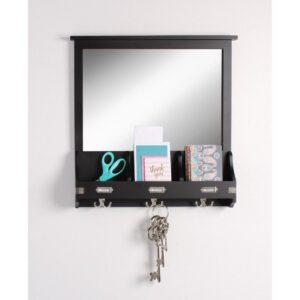 Kate and Laurel Stallard Black Multi Function Mirror Memo Board