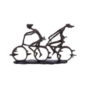 LITTON LANE Abstract Polystone Cycling Pair Sculpture