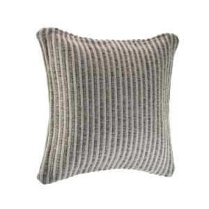 LR Home Kind Beige / Cream Striped 22 in. x 22 in. Cotton Throw Pillow