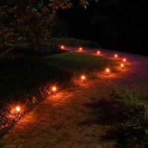 LUMABASE Orange Pathway Lights (10-Count)