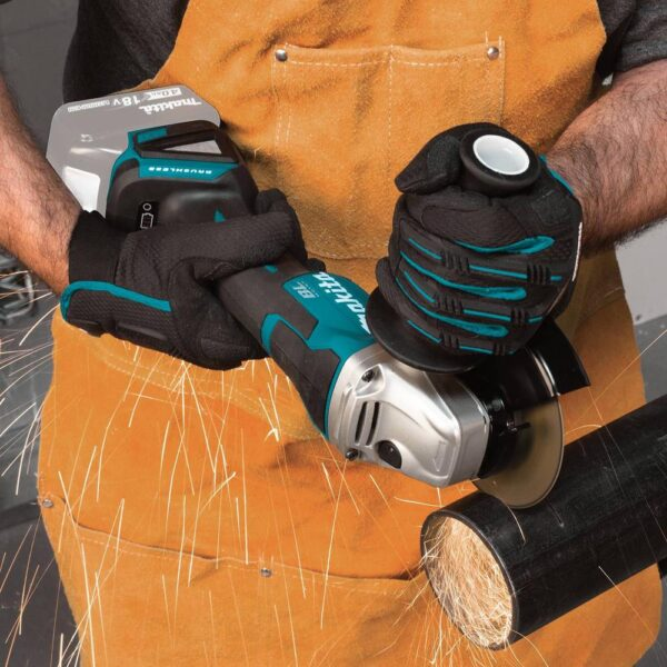 Makita 18-Volt LXT Lithium-Ion Brushless Cordless 4-1/2 in./5 in. Paddle Switch Cut-Off/Angle Grinder (Tool-Only)