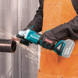 Makita 18V LXT Brushless 4-1/2 in./5 in. Paddle Switch Cut-Off/Angle Grinder with Bonus 18V LXT Battery Pack 5.0Ah