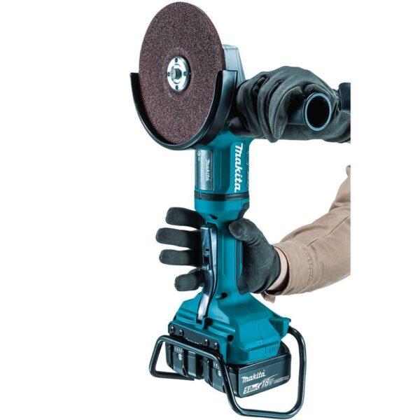 Makita 18V X2 LXT Brushless Cordless 7 in. Angle Grinder Kit 5.0Ah w/Bonus 7 in. Dust Extraction Shroud, 7 in. Diamond Wheel