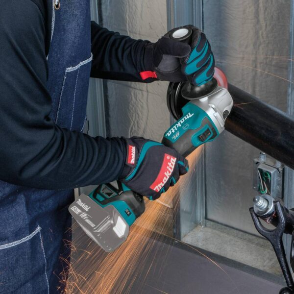 Makita 18-Volt LXT Brushless 4-1/2 in. / 5 in. Cordless Cut-Off/Angle Grinder with Electric Brake and AWS (Tool Only)