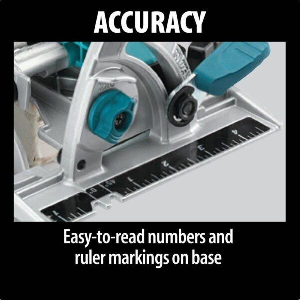 Makita 15 Amp 7-1/4 in. Corded Lightweight Magnesium Circular Saw with LED Light, Dust Blower, 24T Carbide blade, Hard Case