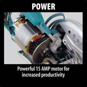 Makita 15 Amp 7-1/4 in. Corded Hypoid Circular Saw with 51.5 degree Bevel Capacity and 24T Carbide Blade