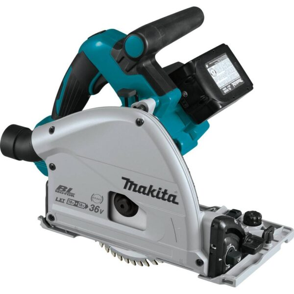Makita 18-Volt X2 LXT (36-Volt) Brushless 6-1/2 in. Plunge Circular Saw 5.0 Ah with Bonus 18-Volt LXT Cordless Jigsaw