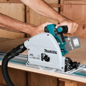 Makita 18-Volt X2 LXT(36-Volt) Brushless 6-1/2 in. Plunge Circular Saw with Bonus 6-1/2 in. 56T Carbide-Tipped Plunge Saw Blade