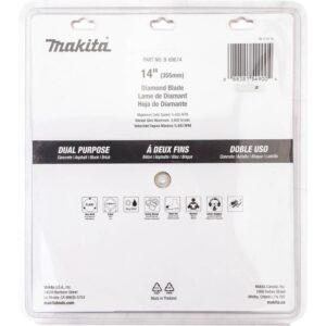 Makita 4-Stroke (MM4) 14 in. 76cc Gas Saw with bonus 14 in. Segmented Rim Dual Purpose Diamond Blade