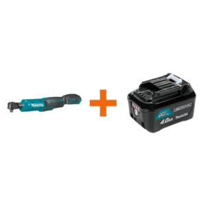 Makita 12-Volt MAX CXT Lithium-Ion Cordless 3/8 in./1/4 in. Sq. Drive Ratchet with bonus 12-Volt MAX CXT Battery Pack 4.0Ah
