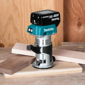 Makita 18-Volt LXT Brushless Cordless Compact Router Kit/Bonus 18-Volt LXT Cordless 3-1/4 in. Cordless Planer (Tool-Only)