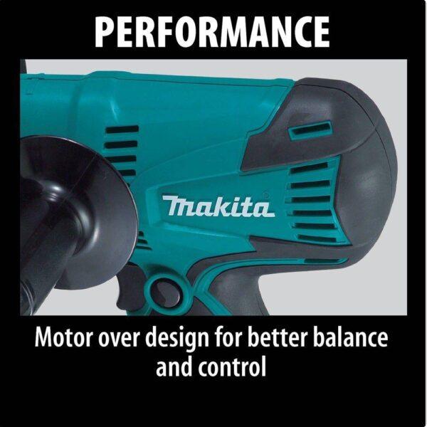 Makita 4.2 Amp 5 in. Corded Lightweight Compact Disc Sander with Disc, Pad, and Side Handle