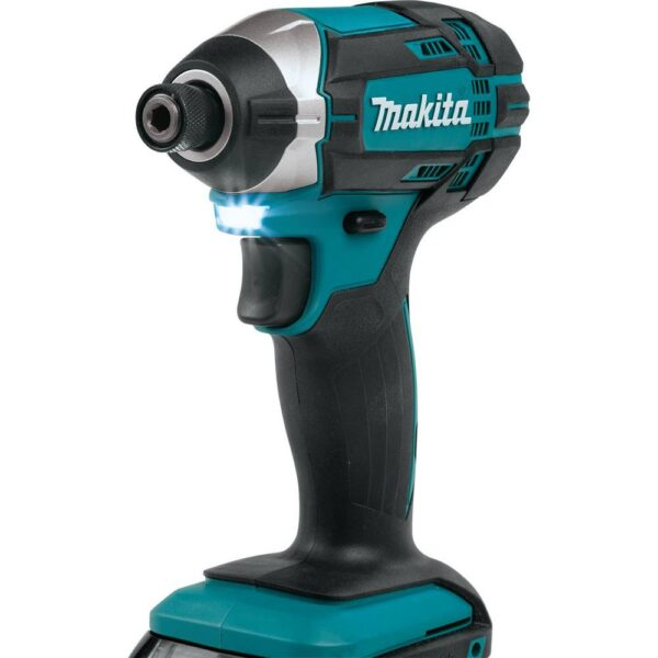 Makita 1.5 Ah 18-Volt LXT Lithium-Ion Compact Cordless 1/4 in. Impact Driver Kit