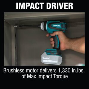 Makita 18-Volt LXT Lithium-Ion Brushless Cordless Hybrid 4-Function Impact Hammer Driver Drill (Tool Only)