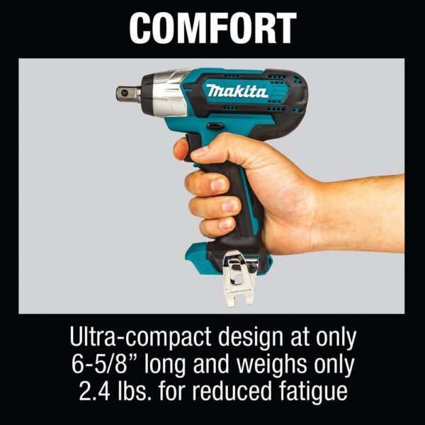 Makita 12-Volt max CXT Lithium-Ion Cordless 1/2 in. Sq. Drive Impact Wrench, Tool Only