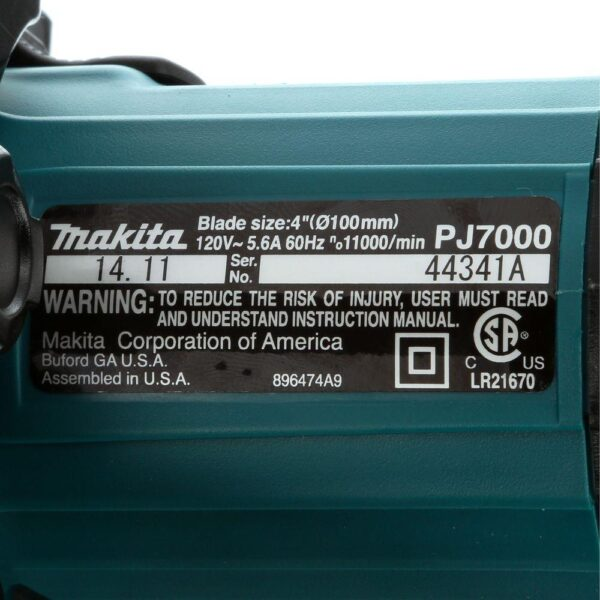 Makita 6  Amp Corded Plate Joiner with Dust Bag and Tool Case