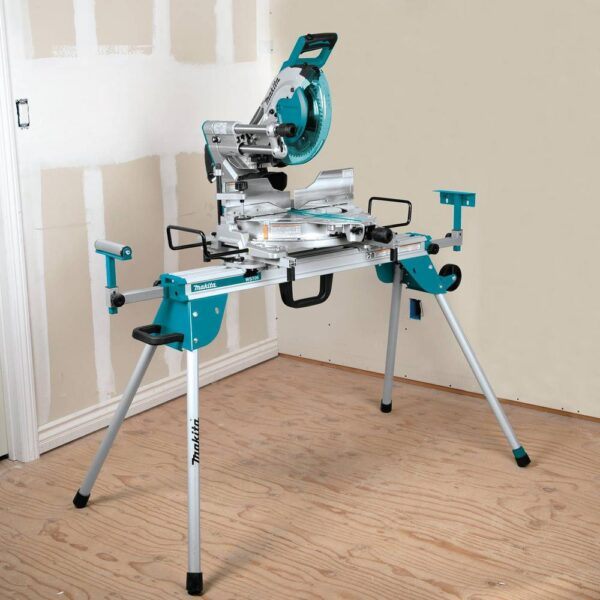 Makita 15 Amp 10 in. Dual-Bevel Sliding Compound Miter Saw with Laser and Stand